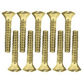 Brainerd 64687 Polished Brass Wall Plate Screw Pack  Lot of 10
