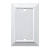 Brainerd W37758-PW Pure White Classic Beadboard Blank Cover Plate