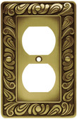 Franklin Brass 64045 Paisley Single Duplex Tumbled Antique Brass Cover Plate