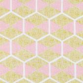 Joel Dewberry RAJD009 Cali Mod Hexablock Gold RAYON Fabric By The Yard