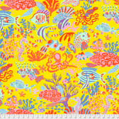 Brandon Mably PWBM064 Scuba Yellow Quilting Cotton Fabric By The Yard