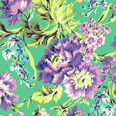 Amy Butler AB50 Love Bliss Bouquet Emerald Cotton Fabric By Yard
