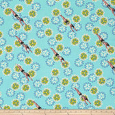 Tokyo Milk Neptune & The Mermaid PWTM006 Song Of Siren Aqua Fabric By Yd