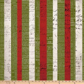 Tim Holtz PWTH086 Merriment Xmas Stripe Multi Cotton Fabric By Yard
