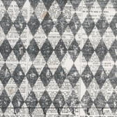 Tim Holtz PWTH074 Materialize Harlequin Black Cotton Fabric By Yard