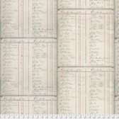 Tim Holtz PWTH084 Merriment List Neutral Cotton Fabric By Yard