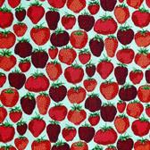 Snow Leopard English Garden PWSL056 Strawberry Fields Aqua Cotton Fabric By Yd