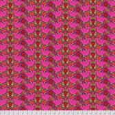 Shannon Newlin Garden Dreams PWSN0010 Birds Pink Cotton Fabric By Yd
