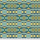 Shannon Newlin Garden Dreams PWSN0011 Wave Blue Cotton Fabric By Yd