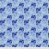 Corinne Haig PWCH009 Peacock Paradise Indigo Fabric By Yd