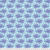 Corinne Haig PWCH011 Peacock Paradise Peacocks Indigo Fabric By Yd