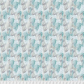 Shell Rummel Bloom Beautiful PWSR015 Soft As a Feather Turquoise Fabric By Yd