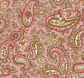 Henry Glass 1322-22 Windsor Park Paisley Pink Cotton Quilting Fabric By Yd