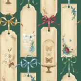 Blank Quilting 8723-66 Bookshop Bookmarks Green Cotton Fabric By Yard