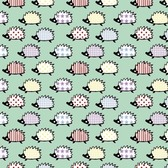Blank Quilting 8797-40 Retro Charm Hedgehog Mint Cotton Fabric By Yard