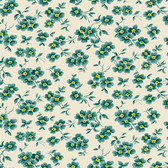 Denyse Schmidt PWDS137 Washington Depot Wallflower Teal Cotton Fabric By Yd