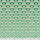 Joel Dewberry Avalon PWJD157 Sugar Bloom Jade Cotton Fabric By Yd