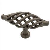 "Liberty 65112RB Oil Rubbed Bronze 3 3/8"" Birdcage Cabinet Drawer Knob Pull"