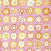 Kaffe Fassett PWGP152 Button Flowers Pink Cotton Fabric By The Yard