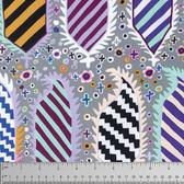 Kaffe Fassett PWGP153 Striped Heraldic Contrast Cotton Fabric By The Yard