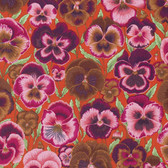 Philip Jacobs PWPJ076 Pansies Orange Cotton Quilting Fabric By Yard