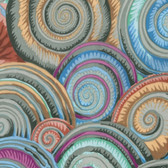 Philip Jacobs PWPJ073 Spiral Shells Sludge Cotton Quilting Fabric By Yard