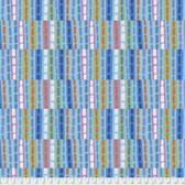 Keiko Goke How Do You Do PWKG002 Railroad Ties Blue Cotton Fabric By Yard