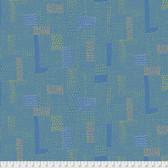 Keiko Goke How Do You Do PWKG005 Sashiko Blue Cotton Fabric By Yard