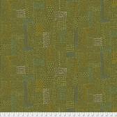 Keiko Goke How Do You Do PWKG005 Sashiko Green Cotton Fabric By Yard