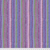 Keiko Goke How Do You Do PWKG006 Dot Parade Purple Cotton Fabric By Yard