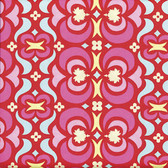 Amy Butler AB23 Midwest Modern Garden Maze Red Cotton Fabric By Yard