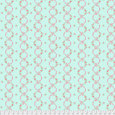 Verna Mosquera Kiss Goodbye PWVM196 Ribbons In Bloom Mint Cotton Fabric By Yd