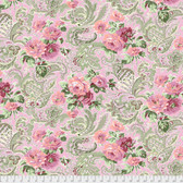 Verna Mosquera PWVM185 Autumn Grace Rose Paisley Rose Fabric By Yd