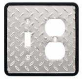 Brainerd 126486 Diamond Plate Single Switch / Duplex Cover Plate