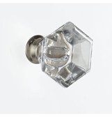 """Canvas 046-5554-4  1 1/4"""" Clear Acrylic Satin Nickel Cabinet Drawer Knob 4 Pack"""