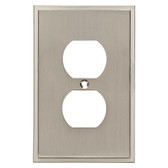 Brainerd W35311-SN Simple Step Single Duplex Outlet Cover Plate Satin Nickel