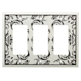 W33493-WW Fairhope White Wash Triple GFCI Decora Cover Plate