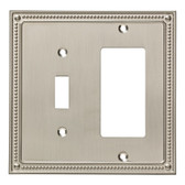Franklin Brass W35063-SN Classic Beaded Switch / GFCI Decora Cover Plate