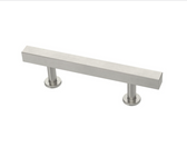"Liberty 085-03-4102 3"" Satin NIckel Square Bar Cabinet Drawer Pull 2 Pack"