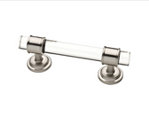"Liberty 085-03-4112 3"" Satin NIckel & Glass Insert Cabinet Drawer Pull 2 Pack"