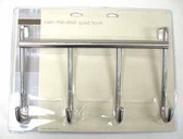 085-03-3806  Over The Door Hook Coat Hat Hook Rail Chrome Finish