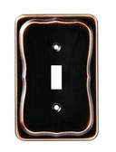 144415 Tenley Bronze & Copper Single Switch Cover Wall Plate