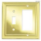W060ZMC-PB Polished Brass Architect Single Switch/GFCI Cover Plate