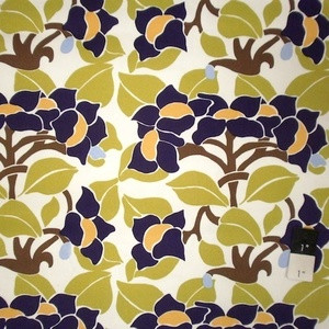 Vicki Payne HDVP18 Logan Floral Nouveau Purple Cotton HOME DECOR
