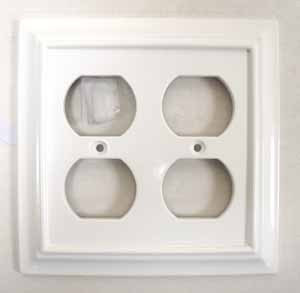 Brainerd White Architect Double Duplex Outlet Cover Wall Plate
