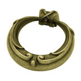 PN1512-ABT  52mm French Lace Ring Cabinet Drawer Pull Tumbled Antique Brass