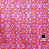 Dena Designs LIDF001 Sunshine Circle Pink Linen Fabric By Yard