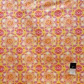 Dena Designs LIDF001 Sunshine Circle Yellow Linen Fabric By Yard