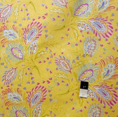 Dena Designs LIDF008 Sunshine Heather Yellow Linen Fabric By Yard