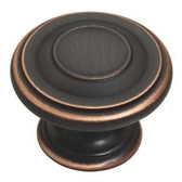 "P22669-VBC 1 3/8"" Bronze Copper Highlights Harmon Cabinet Drawer Knob"